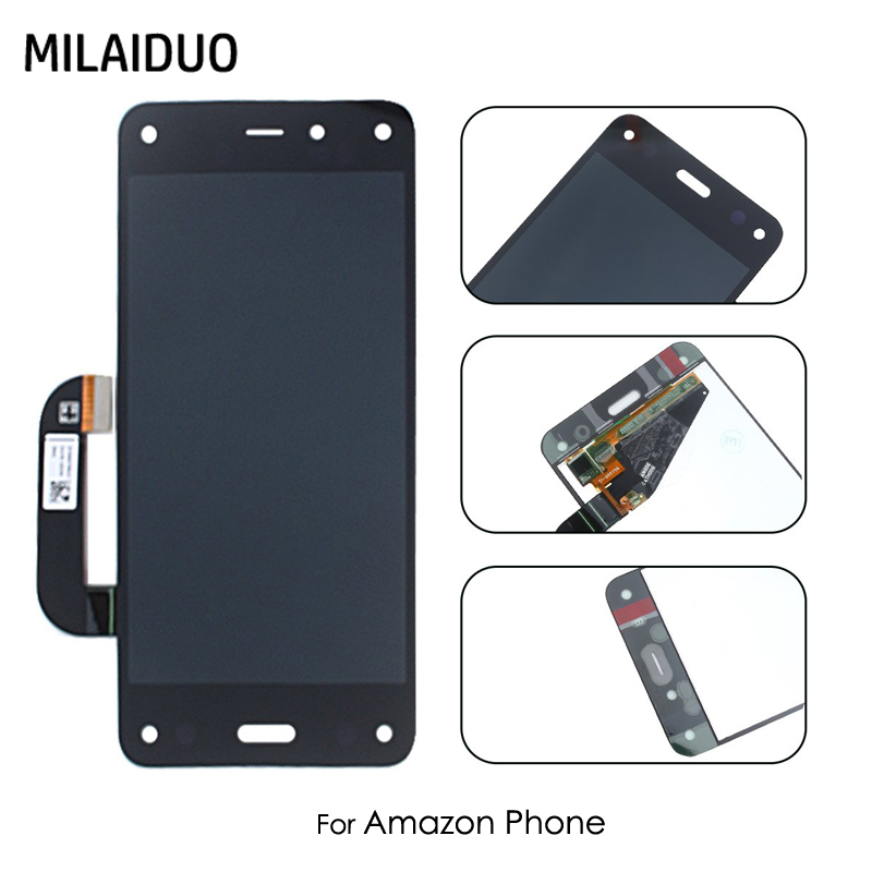 LCD Display For Amazon Fire Phone Touch Screen Digitizer Assembly Replacement No Frame Mobile Phone Parts Black Gold