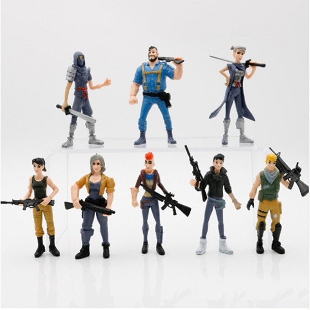 8pcs/set Fortnight Action Figure Toy 8-11.5cm Fortnight game Character PVC Action Figures Dolls Model Toy For children Gift 1