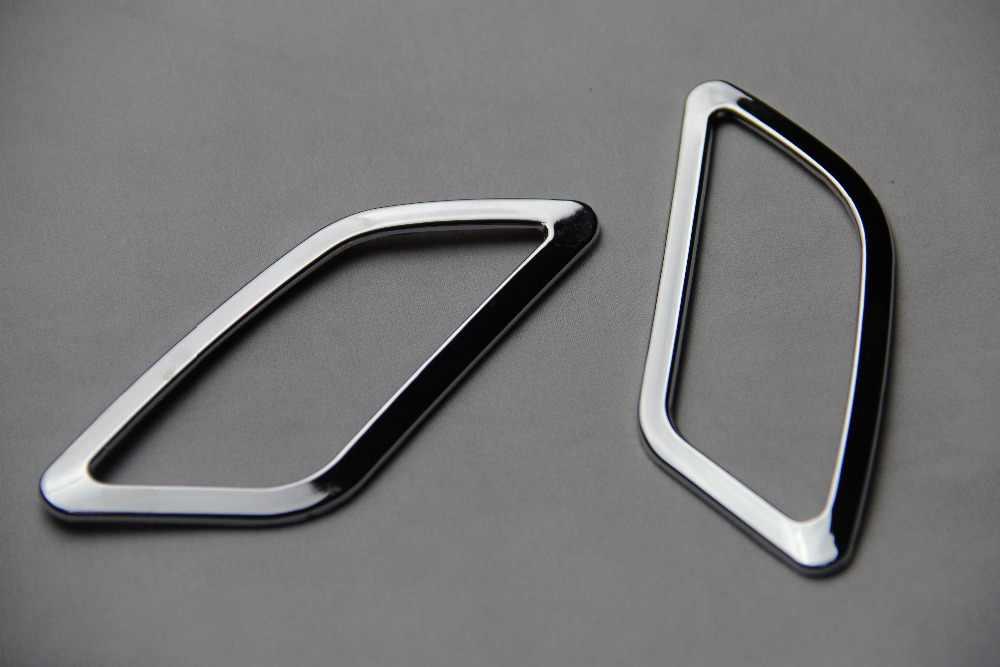 Наклейки высокое положение кондиционер фурмы ABS Chrome пайетки для Nissan Qashqai 2011 2012 2013 2014