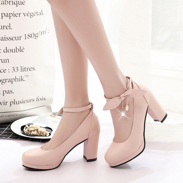 IMKKG New 2017 Summer Women Shoes Mary Jane Ladies High Heels White Wedding  Shoes Thick Heel Pumps Lady Shoes G107 461f796629fc