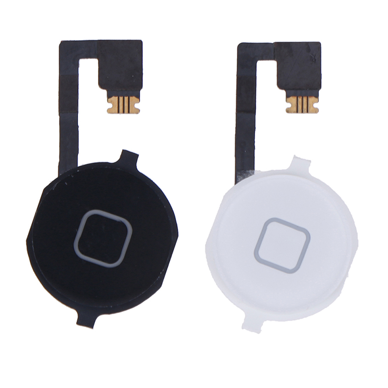 Home Button Assembly Flex Cable Sensor Ribbon Complete Parts For 4S