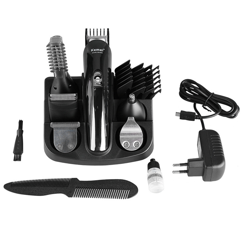 Kemei KM-600 Haircut Hair Styling Tools Set Wireless Electric Hair Clipper Shaver Rechargeable Beard Electric Hair Trimmer Razor rechargeable electric lcd hair clipper haircut trimmer hairdressing shaving hair cutting set barber styling tools