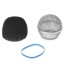 Grill-Head Microphone Steel-Mesh Shure Beta87a/beta Mics Replacement Blue Wireless