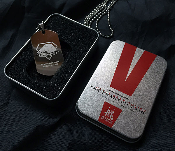 Game MGS 5 Metal Gear Solid V The Phantom Pain Necklace Two Sided Dogs of War Fox Unit Logo Metal Dog Tag Pendant with Box