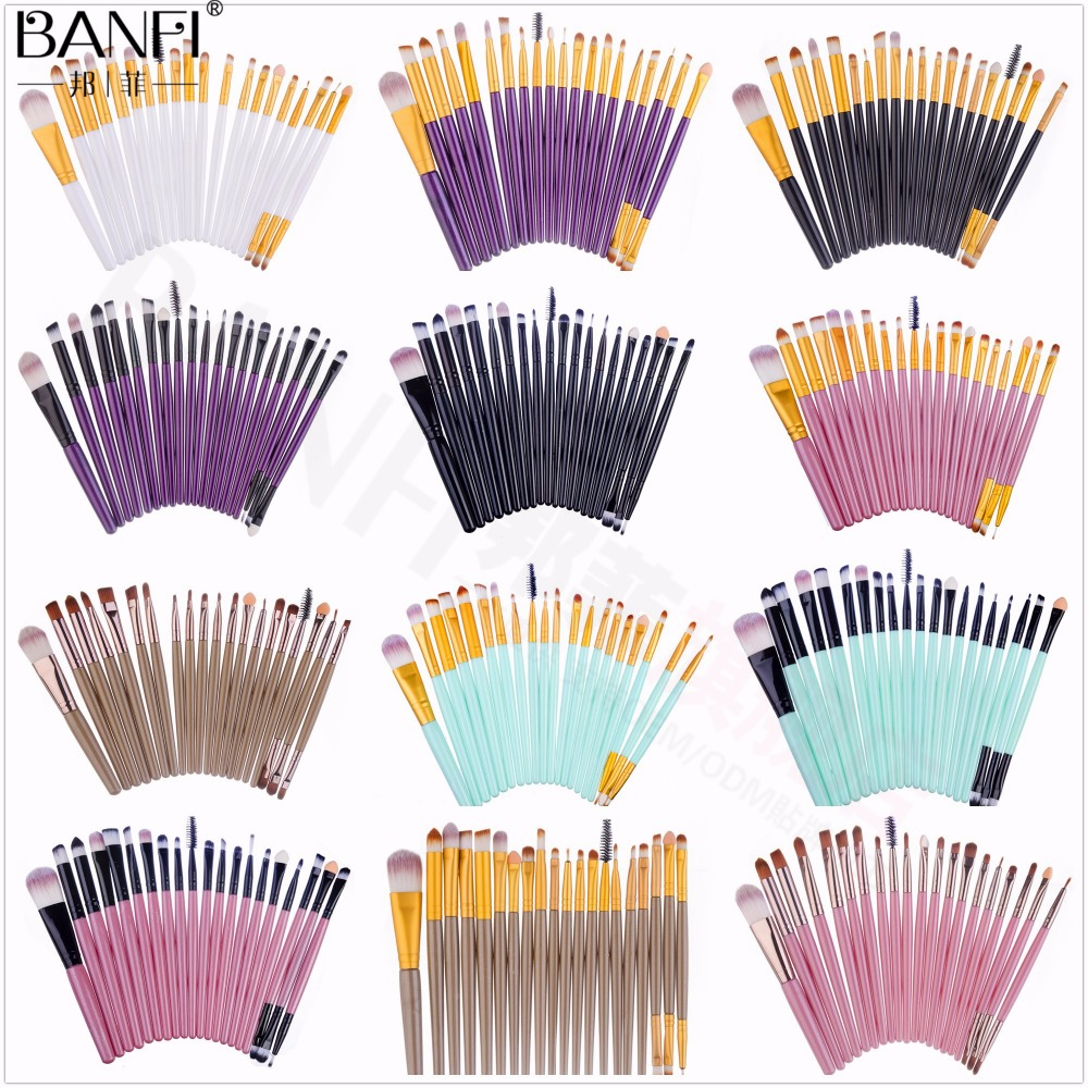 BANFI 20 PCS/set Professional Makeup Cosmetic Powder Eyeshadow Lip Brush Tool 13 Colors Brushes Set BF0088 цены онлайн