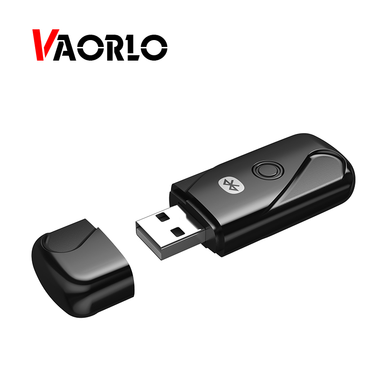 VAORLO USB Bluetooth Transmitters Mini Adapter 4.2 Wireless Audio Music Stereo Transmit Dongle Transmitter For PC Computer mini usb bluetooth adapter csr dual mode wireless bluetooth v4 0 dongle transmitter for windows 7 8 10 pc laptop
