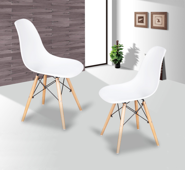 The Modern Popular Plastic Chair Leisure Dining Chair Composition Of Synthetic Resin And Solid Wood Legs In Living Room Chairs From Furniture On