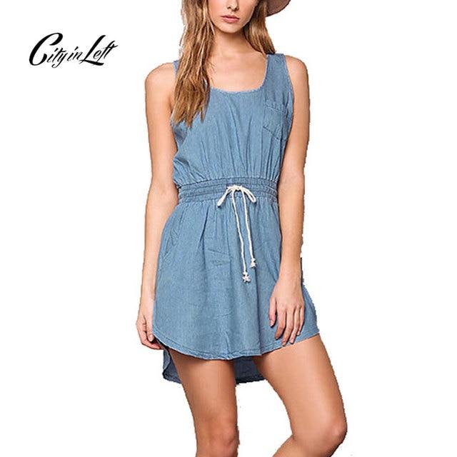 Sleeveless dress DAY.LIKE blue Day Like TQeC4UStw0