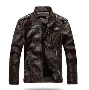 Image 3 - ZOEQO NEW top quality Leather Jacket Men jaqueta de couro masculina mens leather jacket and Coat Motorcycle Jacket