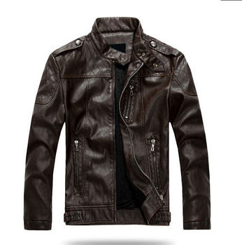 ZOEQO dropshipping NEW top quality Leather Jacket Men jaqueta de couro masculina mens leather jacket and Coat Motorcycle Jacket