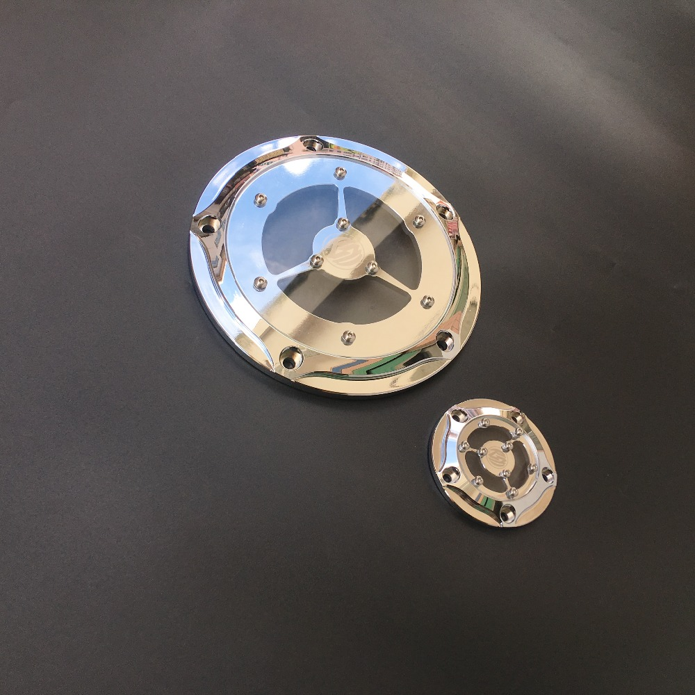 Chrome Clarity 5 Hole Twin Cam Derby points Timer cover Fits for Harley Davidson