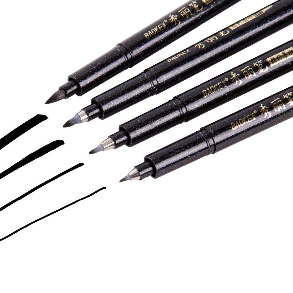 4Pcs Calligraphy Pen Hand Lettering Pens Brush Lettering Pens Markers For Writing DrawingBlack Ink Pens Art Marker