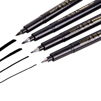 4Pcs Calligraphy Pen Hand Lettering Pens Brush Lettering Pens Markers for Writing DrawingBlack Ink Pens Art Marker calligraphy pen hand lettering pens brush lettering pens markers for writing drawing black ink pens art marker