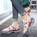High Quality Genuine Leather Sneakers Women 2019 Spring New Chunky Sneakers Harajuku Casual Platform Dad Shoes Braised Shoes