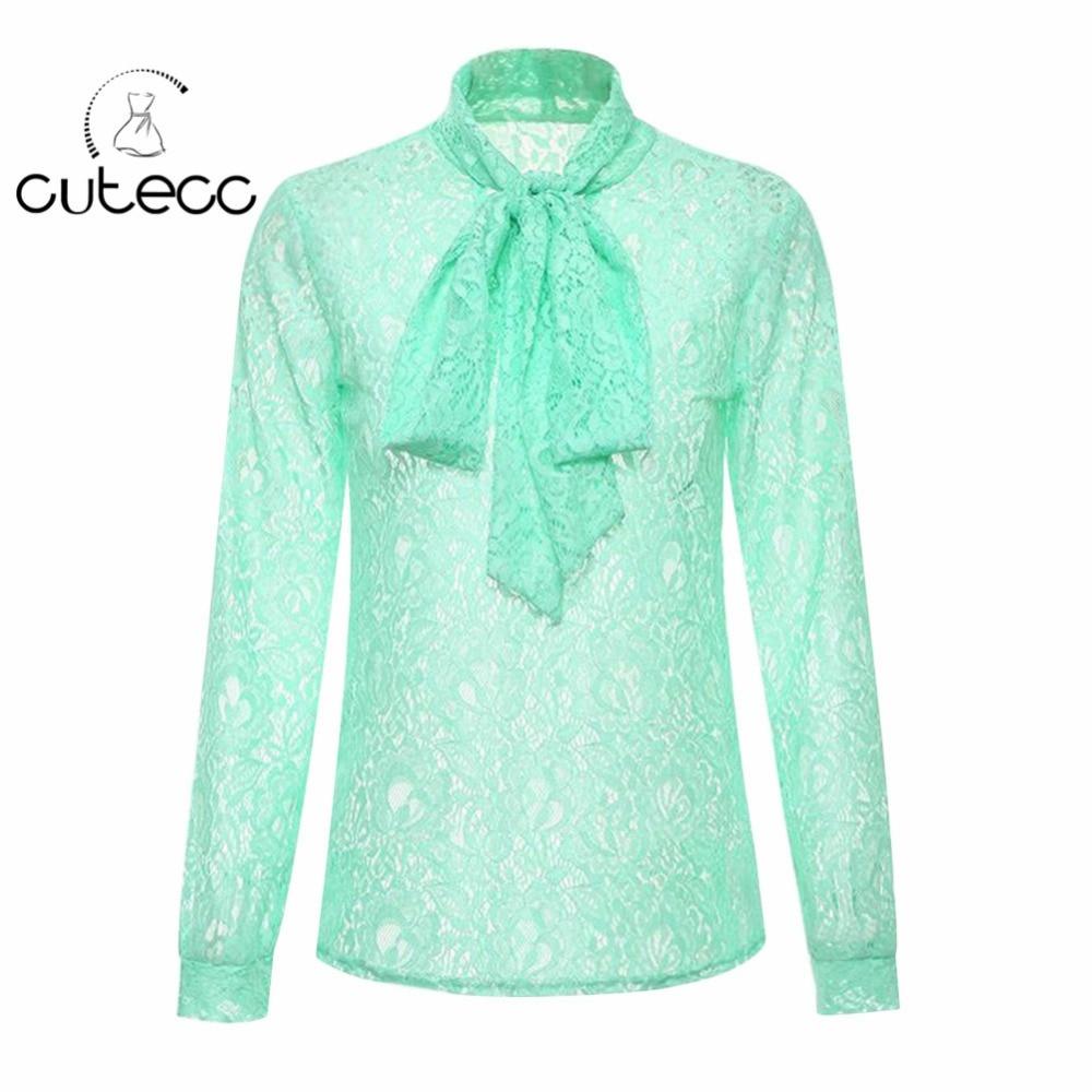 OL style elegant lace floral font b women b font font b blouses b font high