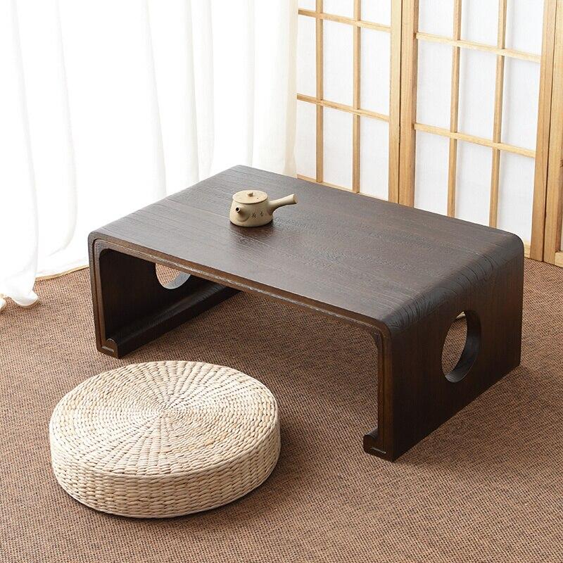 Japanese Style Solid Wood Tea Table Window Tatami Coffee Table