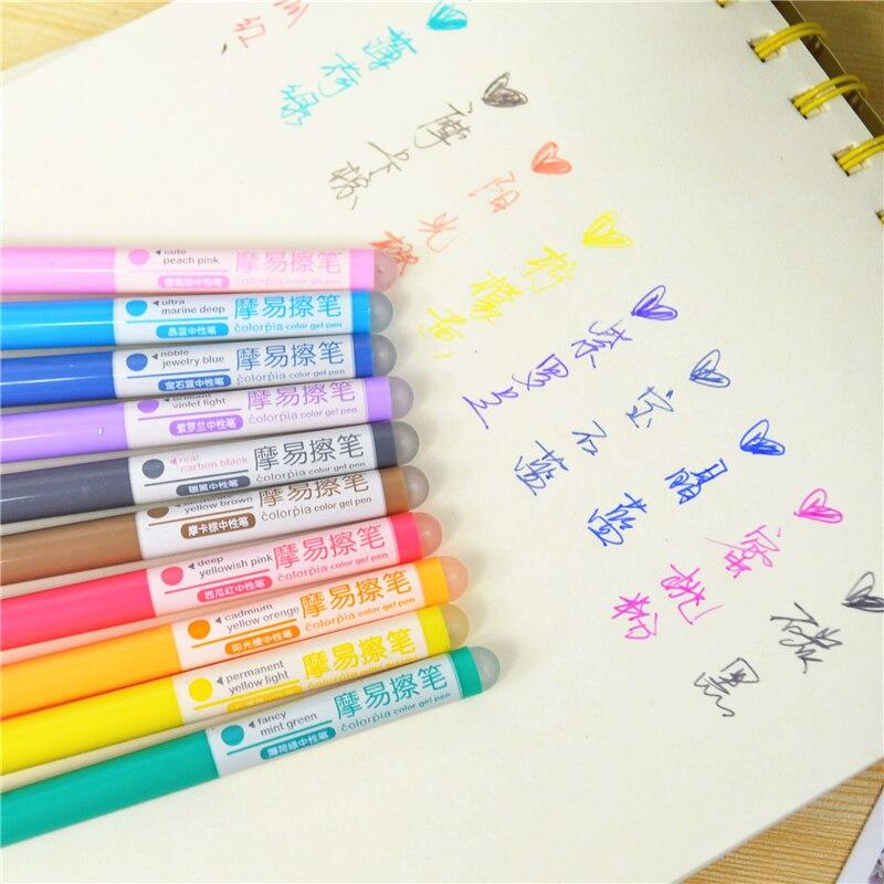 0.5mm 10 Colors/box Multicolour Erasable Pen Hot Unisex Erasable Pen Stationery Gel Pen Stationery Office & School Supplies