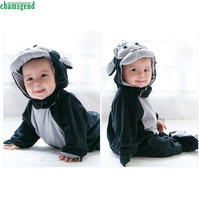 New  dropship cute Baby Halloween Animals Costume Hooded Bodysuit Footies Romper Onesie Outfit  H35 SEP20 baby photography props fotografia animals halloween cosplay bodysuit hat set plush costume outfit studio shoot playsuit clothing