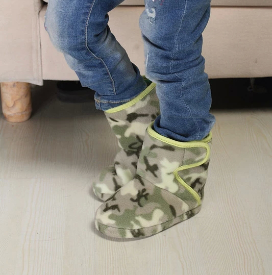 Exports Winter Children's Home Shoes House Slipper Shoes Boy Warm Home Shoes Home Cotton Shoes Warm Winter Boots Magic Stick