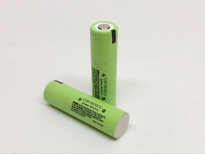 2PCS/LOT New Original Panasonic CGR18650CG 18650 3.7V 2250mAh Rechargeable Battery Lithium Batteries (CGR18650CG)