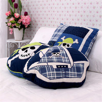 Pirates Pattern Boat Round Square Shape Cotton Quilt Cushion Embroidered Car Home Sofa Boy S Bedroom