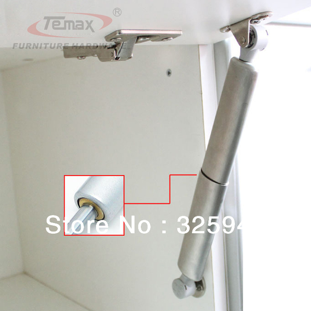 2x80N Stainless steel Jacket Gas Lift up Support Kitchen Cabinet Spring Hinge Cabinet Cupboard Furniture