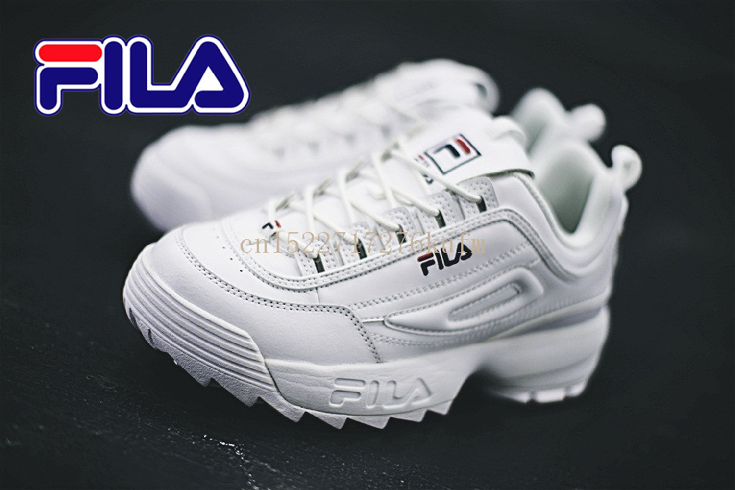 official photos d07a4 2bcd9 R Fila Jusqu Gt  Pas Duction 36 2 Promotions Brun Cher Disruptor fq144F