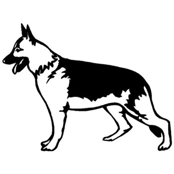 17.8*13.5CM German Shepard Dog Funny Cartoon Car Decoration Accessories Personalized Sticker Decal C6-1117 image