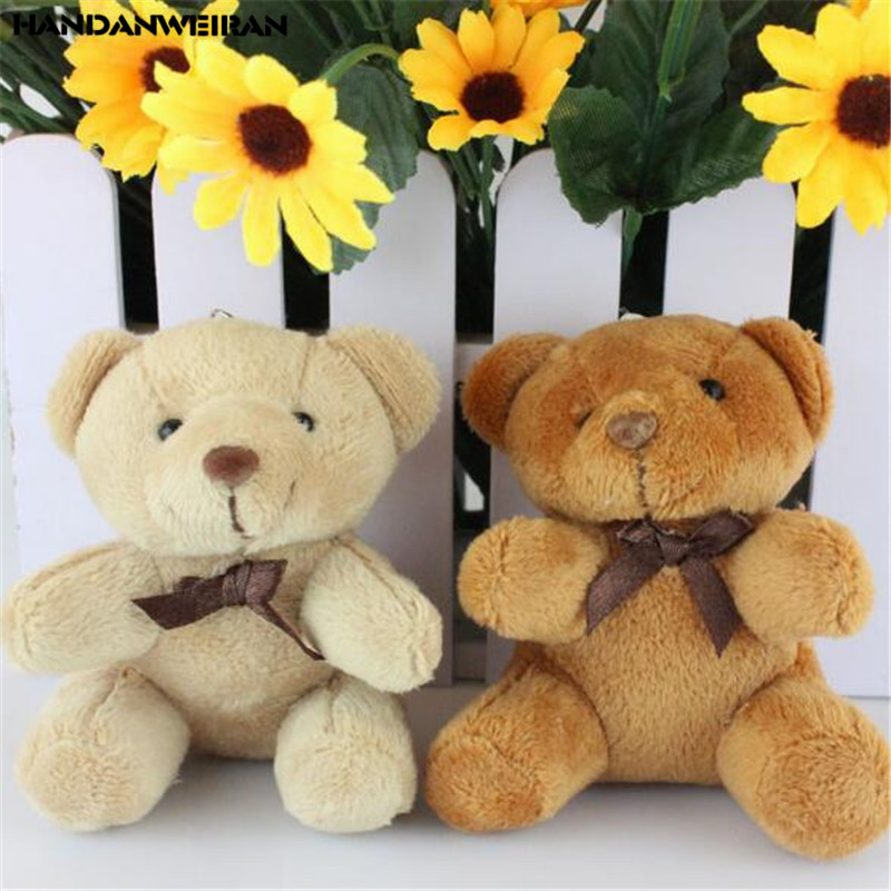 1PCS Plush Bear Toys Small Pendant Mini Cute Soft Stuffed Bears Toy Wedding Activity Gifts Doll For Kids 8.5CM