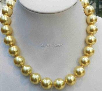 e5657d96e469 Descuento DIY moda 12mm oro del Mar del Sur del color Conchas perla 18