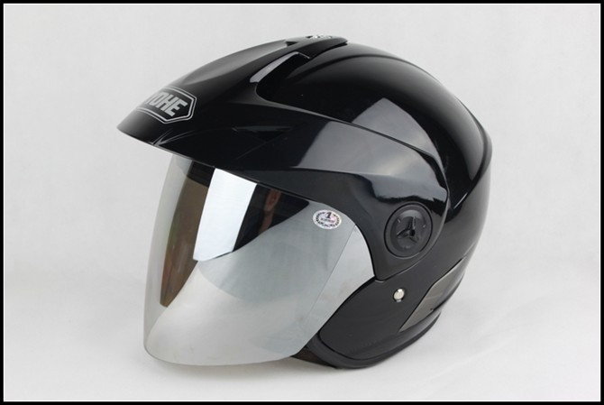 Motorcycle helmet yh-887-2r1 metal black anti-uv lens YOHE 887 Motorbike half face Helmets for summer scoote dirt bike 2017 summer new eternal yohe half face motorcycle helmet yh 868 abs motorbike helmet double lens electric bicycle helmets