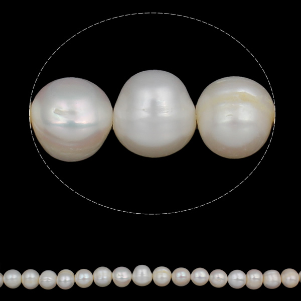 YYW  Love jewelry natural white 12-15mm Hole:Approx 0.8mm Potato Cultured Freshwater Pearl Beads
