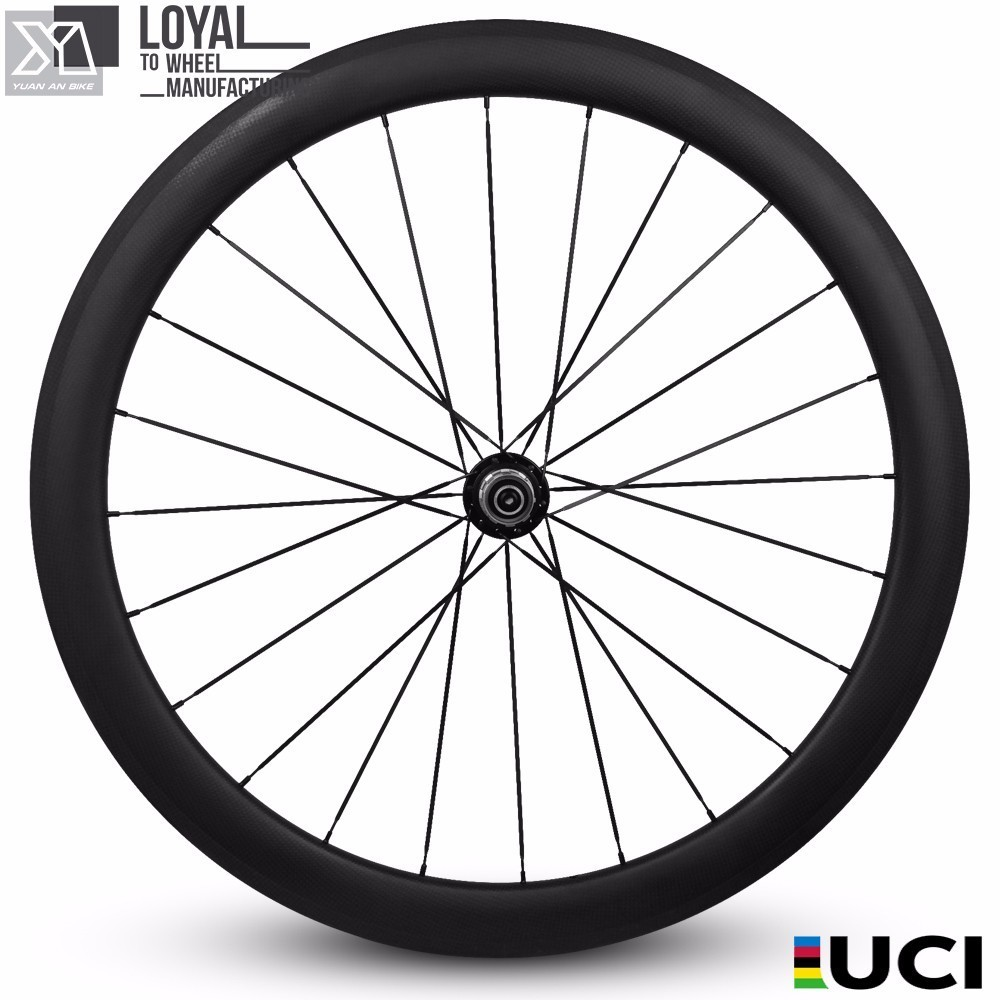 2017 Yuan'an wheelsets 25mm width 50mm depth tubular carbon road bike wheels with pillar 1432 spoke and DT SWISS 350s Hub цена