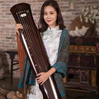 Chinese Guqin Fuxi type Old Fir Solid Wood Guqin Beginner High end Performance Level 7 Strings Ancient Zither with Accessories
