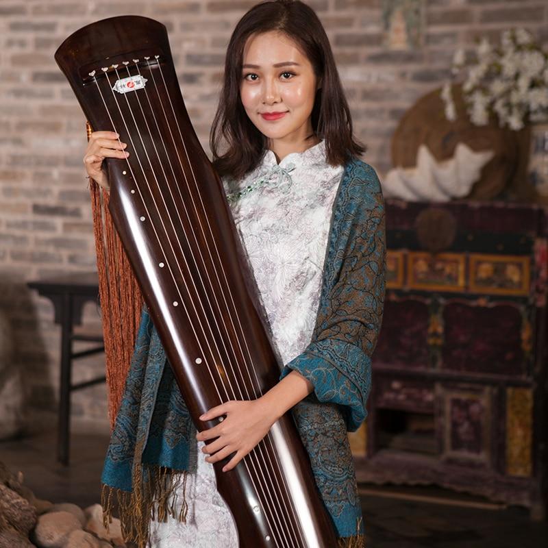 Guqin עץ מלא אשוח Guqin Fuxi-הישן סוג סיני למתחילים High-end רמת ביצועים 7 מחרוזות העתיקים ציתר עם אביזרים