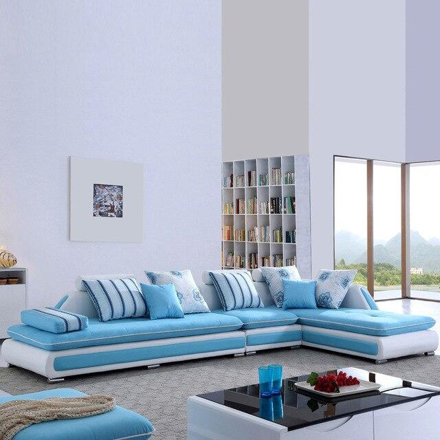 € 1320.81 |Canapé en tissu coloré en forme de L pour meubles de salon A 002  salon simple 3 places dans Canapés salle de séjour de Meubles sur ...