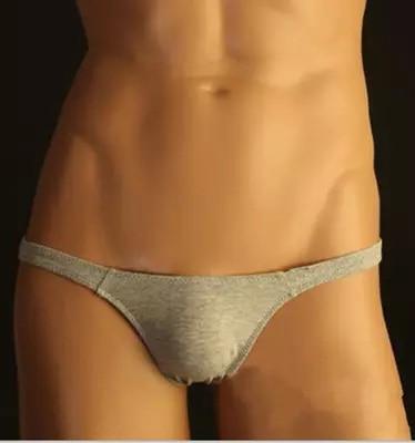 Buy men sexy thongs men's cotton bikini thongs gay boys underwears male underpants