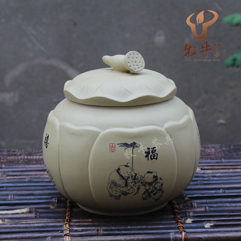 The Purple Tea Factory Direct Segment Mud Tank Lotus Tea Pot Shop Tea Set Collocation Mixed Batch