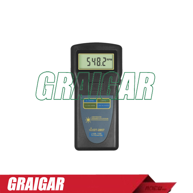 Digital Industrial Tachometer DT2857 Laser (2.5~99,999r/min) dt 2856 photo touch type tachometer dt2856