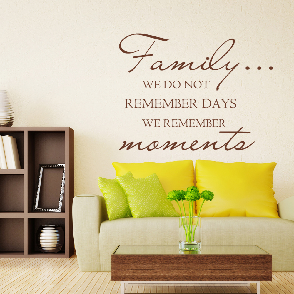 Family We Do Not Remember Days We Remember Moments Family Wall Decal ...