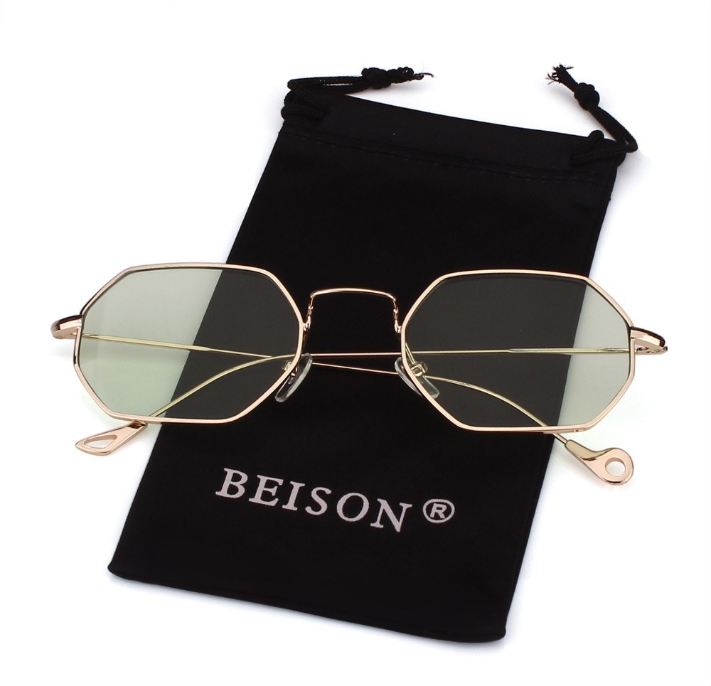 a9707a122258 Classic Polygon Sunglasses Men Women Hexagon Square Eyewear Vintage Retro