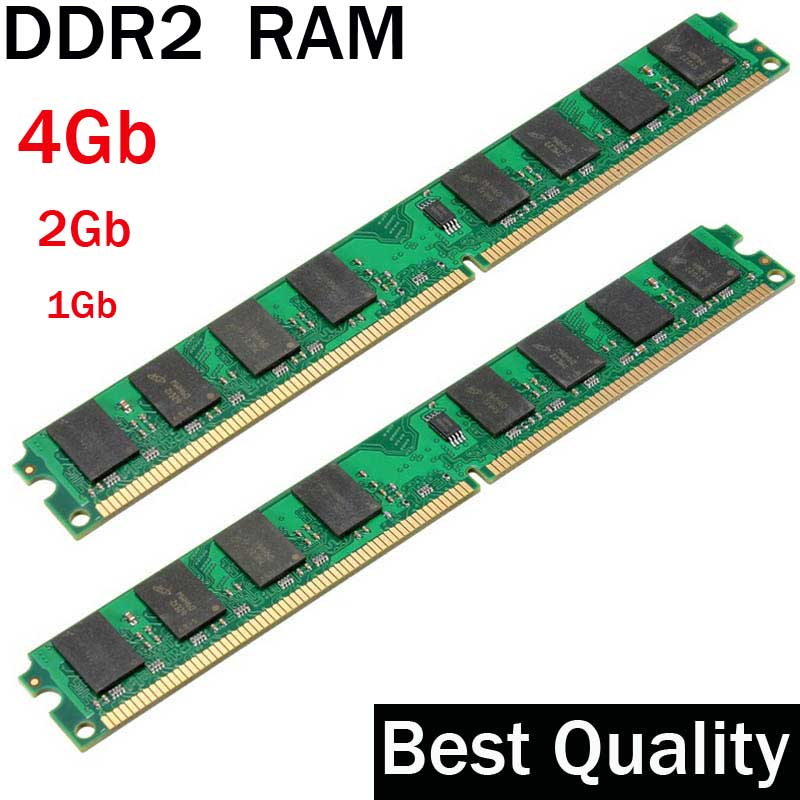 DDR2 4Gb 2Gb 1Gb DDR2 RAM 800 667 533 Mhz / suit for all Intel and AMD desktop / memoria 2 gb ddr2 ram single / ddr 2 memory gtfs hot 2 x aluminum heatsink shim spreader for ddr ram memory