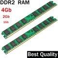 DDR2 de 4 Gb 2 Gb 1 Gb de RAM DDR2 800 667 533 Mhz/juego para toda la Intel y AMD de escritorio/memoria 2 gb ddr2 ram solo/ddr 2 memoria