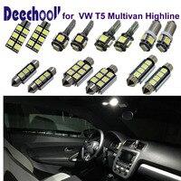16pcsx Parking Interior LED Light Bar Kit Xenon White For Car VW T5 Highline LED 12V