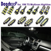 16pcsx Parking Interior LED Light Bar Kit Xenon White For Car VW T5 Highline LED 12V