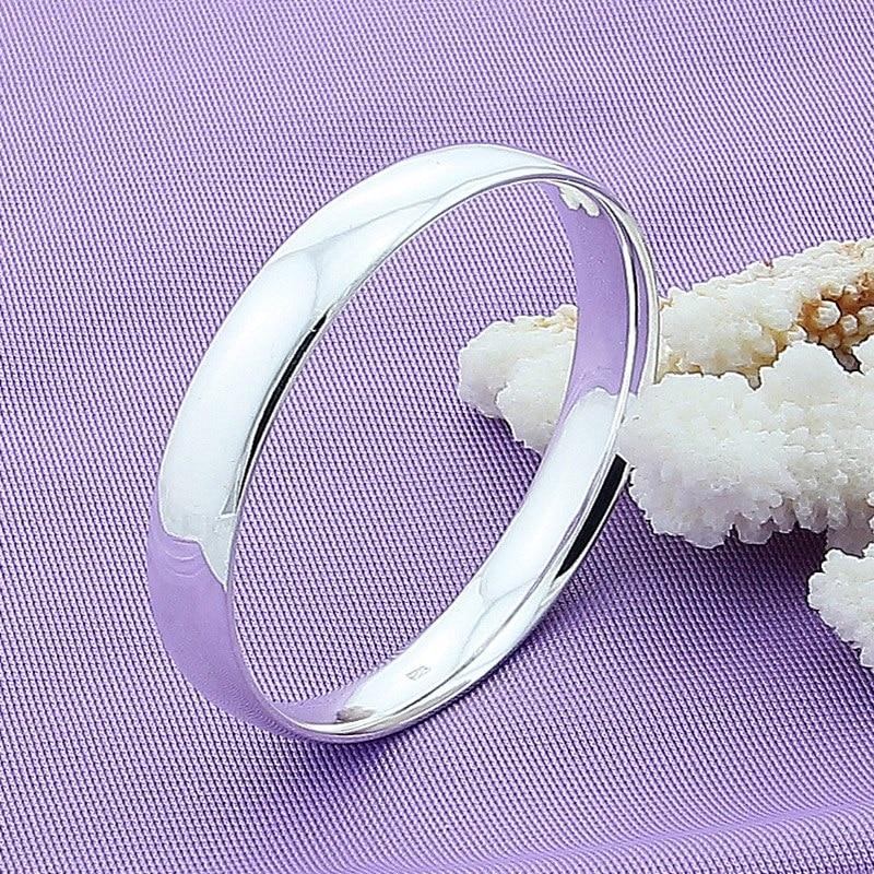 925 Sterling Silver Bracelet Bangles Women Fashion Simple Silver Bracelet Bangles High Quality Charm Jewelry