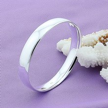 8710421a533a Pulsera de plata de ley 925 brazaletes de pulsera de plata Simple de moda  para mujer brazaletes de joyería de alta calidad