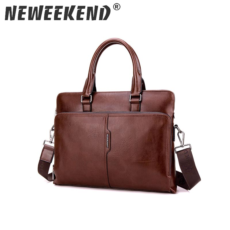 Top Sell Fashion Simple Dot Famous Brand Business Men Briefcase Bag Leather Laptop Bag Casual Man Bag Shoulder bags KQDS88301-38 myosazee famous brand men fashion simple business briefcase bag male pu leather laptop bag casual men travel bags shoulder