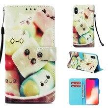 Чехлы-книжки для iphone X 6 7 8 plus Чехол-кошелек с подставкой Роскошные бабочки Окрашенные чехол для телефона из искусственной кожи для iphone Xs max XR чехол