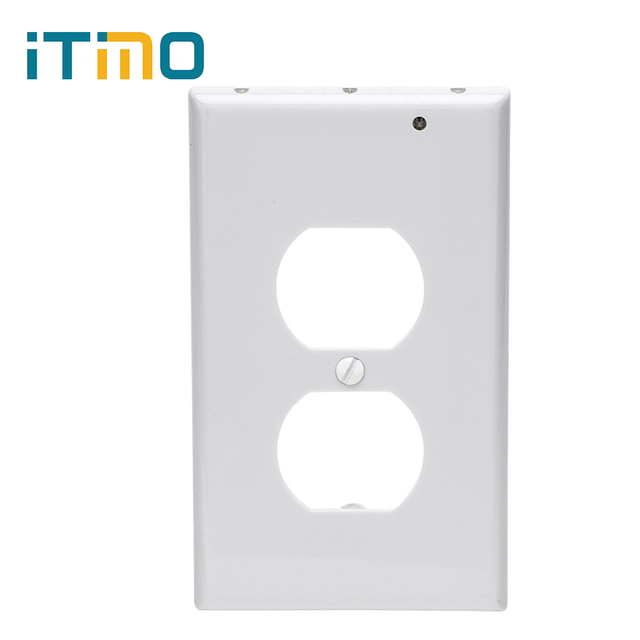 Itimo coverplate plug cover safty led night light wall outlet face itimo coverplate plug cover safty led night light wall outlet face light sensor for hallway bedroom mozeypictures Image collections